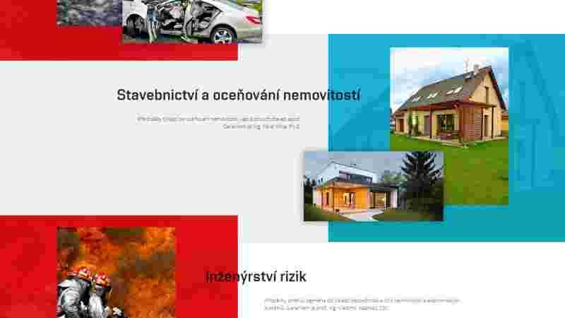 screenshot podsekce stránky - exfos.cz