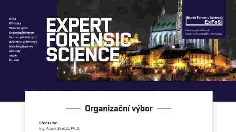 screenshot stránky organizačního výboru - exfos.cz
