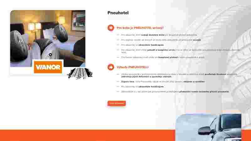 screenshop sekce pneuhotel - pneuservisdavid.cz